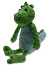 Haakpakket Kleine draak groen/ lichtblauw