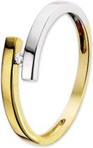 The Jewelry Collection Ring Diamant 0.03 Ct. - Bicolor Goud