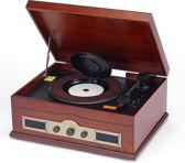 retro platenspeler-radio-CD en USB Norfolk kerselaar