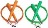 #DoYourFitness - 2x Speed Rope - »Rapido« - Springtouw met stalen kabel - 300 cm - orange & groen