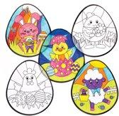 Baker Ross Inkleurbare raamdecoraties voor Pasen (12 stuks per verpakking) Paasknutselwerkjes voor kinderen om te versieren en op te hangen