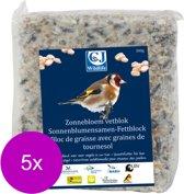 Wildbird Vetblok - Voer - 5 x Zonnebloem