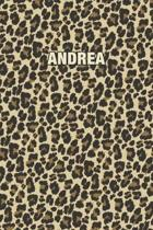 Andrea: Personalized Notebook - Leopard Print (Animal Pattern). Blank College Ruled (Lined) Journal for Notes, Journaling, Dia