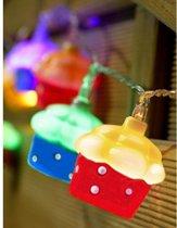 Cupcakes lichtslinger - set van 2 stuks