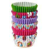 Wilton Mini Cupcake vormpjes Roze Groen en Multicolour pk/150