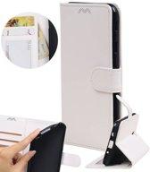 | Huawei P8 Lite Portemonnee hoesje booktype wallet case Wit | WN™