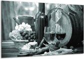 Glas schilderij Wijn, Keuken | Grijs, Groen | 120x70cm 1Luik | Foto print op Glas |  F006773
