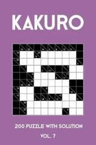Kakuro 200 Puzzle With Solution Vol. 7