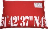 Lex & max nummer 51-42 hondenkussen rechthoek  100x70cm rood