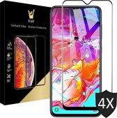 iCall - Samsung Galaxy A70 Screenprotector - Tempered Glass Gehard Glas - Full Screen Cover Volledig Beeld - 4 Stuks