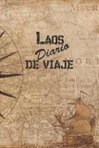 Laos Diario De Viaje: 6x9 Diario de viaje I Libreta para listas de tareas I Regalo perfecto para tus vacaciones en Laos
