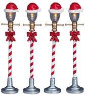 Lemax - Santa Hat Street Lamp -  Set Of 4 -  B/o (4.5v)