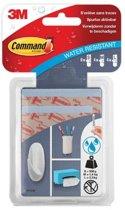Bevestigingsstrip Command 3M W17200C waterbestendig 16 stuks
