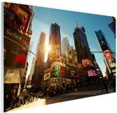FotoCadeau.nl - Zonsopgang in Manhattan Glas 90x60 cm - Foto print op Glas (Plexiglas wanddecoratie)