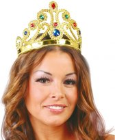Voordelige prinsessen kroon met diverse edelstenen