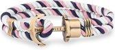 Paul Hewitt Phrep Armband - Nylon - Blauw/Roze/Wit - 20cm