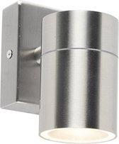 QAZQA duo wl - Wandlamp - 1 lichts - D 115 mm - Staal