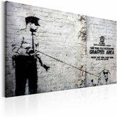 Schilderij - Banksy - Politie agent met hond