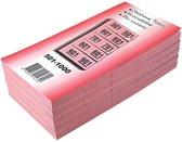 19x Garderobeblokken nummers van 501 t.e.m. 1.000, kers