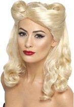 Blonde jaren 40 pruik voor dames
