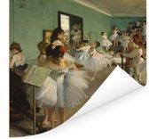De balletklas - Schilderij van Edgar Degas Poster 150x150 cm - Foto print op Poster (wanddecoratie woonkamer / slaapkamer)