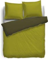 HNL Royal Cotton Perkal Uni Dekbedovertrek - Tweepersoons - 200x200 + 2/80x80 cm - Terra/Aurora Red