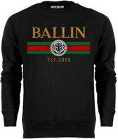 Ballin Est. 2013 - Heren Sweaters Line Small Sweater - Zwart - Maat XS