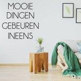 Muursticker Mooie Dingen Gebeuren Ineens -  Oranje -  80 x 80 cm  - Muursticker4Sale