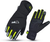 JET - Fietshandschoenen - Winter - Waterproof Fiets Handschoenen - Gel Protective Padded - 3M Thinsulate Enduro (Fluro Geel, 2XL)