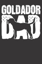 Goldador Notebook: Dog Dad Papa Fathers Day Gift 6x9 Dot Grid Dotted 120 Pages for School College