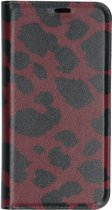 Design Softcase Booktype Samsung Galaxy A40 hoesje - Panter Rood
