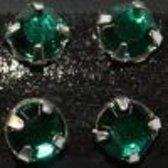Gutermann Buisje opnaaiparels  [ strass ] , 5 mm. 28 stuks groen. 7300