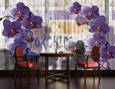 Violet Photomural, wallcovering
