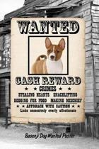 Basenji Dog Wanted Poster
