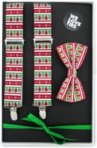 We Love Ties Giftset Kerst, rood / groen