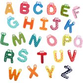 Alfabet Koelkastmagneten Letters Set - Houten Magneet Plakletters Koelkast