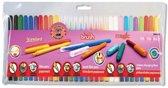 Stiften 30 st. assortiment 3 soorten kleurstiften