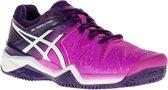 Asics Gel-Resolution 6 Clay  Tennisschoenen - Maat 37 - Vrouwen - roze/wit/paars