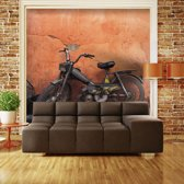 Fotobehang - Old moped