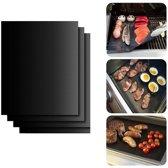 Ovenbeschermers 3 stuks – anti-kleef Ovenmat – Teflon Bakmat – BBQ Accesoire - Geschikt voor Elektrisch, Kolen, Gas, Oven grillen - Herbruikbaar ovenbeschermer