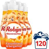 Robijn Vloeibaar Passiebloem Wasverzachter - 750 ml - 4 stuks - voordeelverpakking