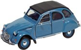 Welly Metalen citro?n 2cv 6 charleston: 16,2 cm blauw