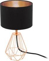 EGLO  Carlton 2 - Tafellamp - 1 Lichts - Ø165mm. - Zwart, Koper
