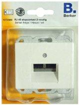 BERKER Arsys 2-voudig RJ-45-stopcontact, inbouw | WIT