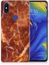 TPU Siliconen Hoesje Xiaomi Mi Mix 3 Marmer Bruin