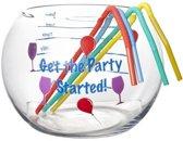 Cosy&Trendy Party bowl - 2 l - met 2 rietjes