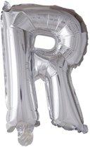 letterballon - 41 cm - zilver - R
