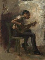 Thomas Eakins : The Banjo Player (1877) Canvas Print