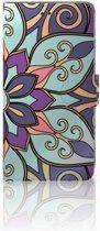 iPhone Xs Max Boekhoesje Design Purple Flower