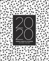 2020 Weekly Monthly Planner Jan 2020 - Jan 2021: 13 Month Calendar Schedule Agenda and Organizer with To-do and Goal Setting Lists - Black and White G
